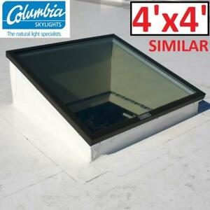 NEW* CLEAR GLASS SKYLIGHTS 4'x4' GLVCMOF5252DGLEA 199460377 COLUMBIA SKYLIGHTS FIXED CURB MOUNT