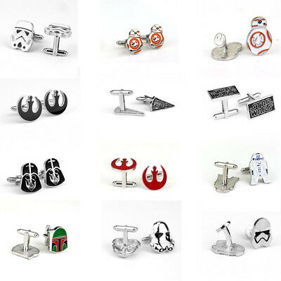 Star Wars Storm Trooper Cufflinks Jedi R2D2 Vader Rebel Millenium Falcon FREE PP