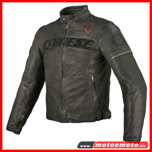Dainese Archivio vintage cafe racer style leather jacket