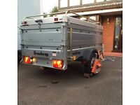 Camping Trailer Brenderup Thule 750Kg Two wheel un-braked camping utility trailer