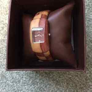 Lady`s wooden watch