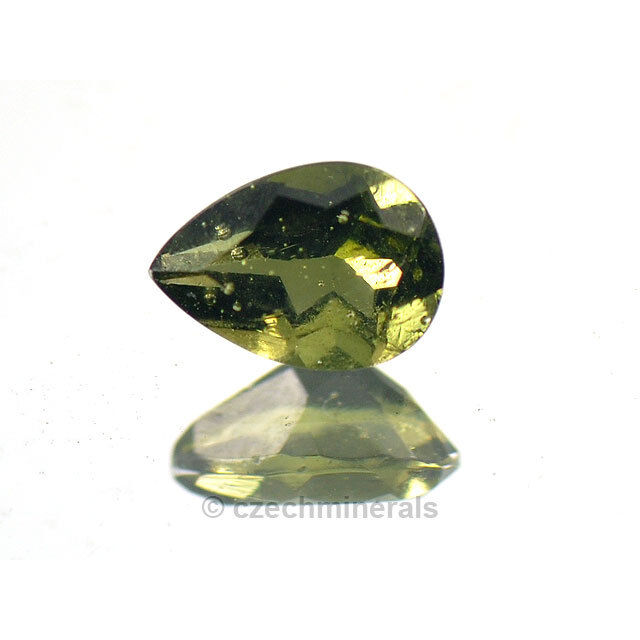 0.594cts pear 5x7mm moldavite faceted cutted gem #BRUS613