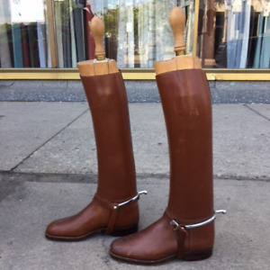 Gorgeous Vintage leather men's riding boots - Size 9