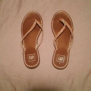 Gap Leather Flip Flops