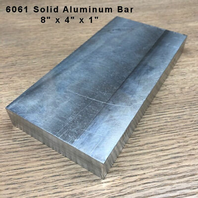 6061 Aluminum Flat Bar 8 X 4 X 1 Machined Plate Mill Bar Stock - Pack Of 1