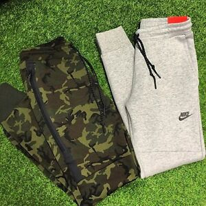 NIKE TECH FLEECE TRACK PANTS - SIZE MEDIUM - GREY OR GREEN CAMO Carindale Brisbane South East Preview