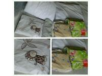 Baby cot bed duvet with pilow and 3 sets of duvet covers