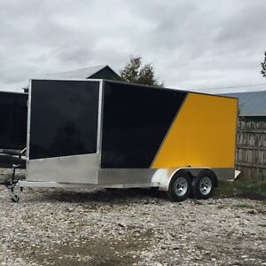 7x14 V-nose All Aluminum Trailer