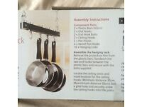 HANGING POTS AND PANS RACK BRAND NEW