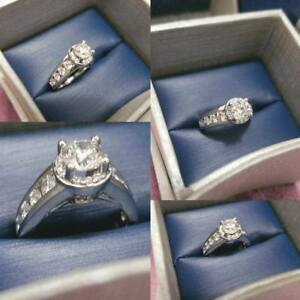 WEDDING/ENGAGEMENT RING 1.50 CT 14K WHITE GOLD