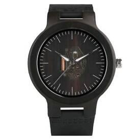 Men's vintage handmade natural wooden dial watch