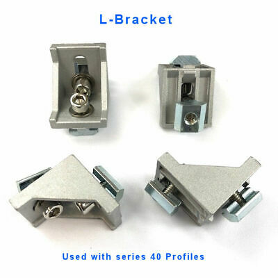 L-bracket W-slide Nut Bolt 4040 4080 Aluminum Profile Extrusion Acc. Qty 4