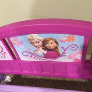Girls Cute Pink Frozen Toddler Bed