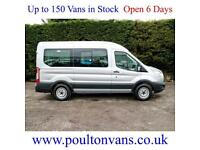 2014 (64) FORD TRANSIT 350 RWD L2H2 MWB MEDIUM ROOF 12 SEAT MINIBUS 125PS,Medium