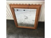 FREE - Mirror with Pine Frame