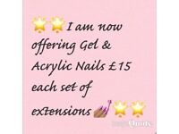 Gel & acrylic nail extensions