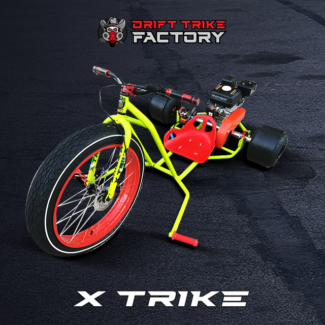 New Motorised Drift Trike Yellow and Red