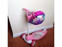 Pink Scooter and Helmet- for Toddler