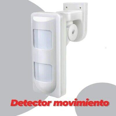 Detector de movimiento infrarrojo exterior IP65 doble lente PT12VW PIR 2 opticas