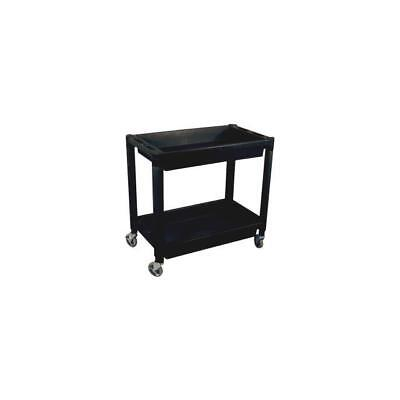 Astro Pneumatic Heavy Duty Plastic 2 Shelf Utility Cart - Black 8330