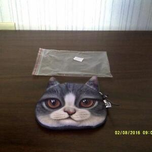 CAT AND DOG COIN PURSES: $3 EACH - NEW!!!