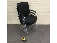 Mesh Back Cantilever Framed Meeting Chairs