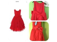 Beautiful red dress, size 3-4years old