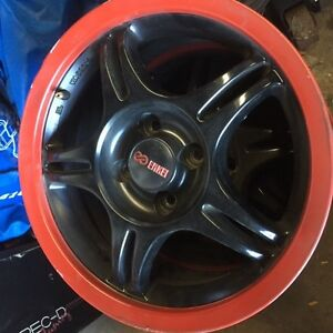 Enkei Black and Red 15 x 6 Rims