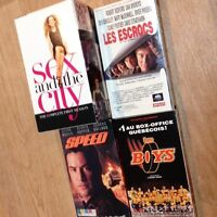 "Saison 1 ""Sex and the city"" et 3 autres films, tous VHS"