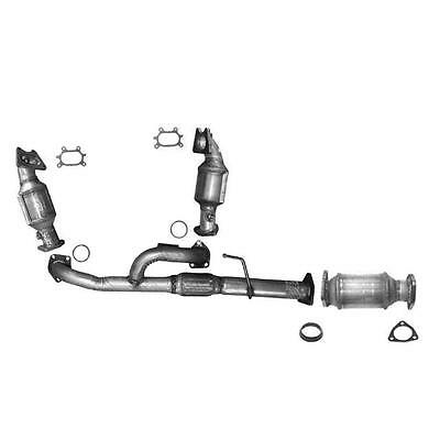 ALL 3 CATALYTIC CONVERTER FRONT LEFT  RIGHT  REAR  ENGINE PIPE WWARRANTY
