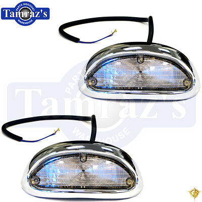 55 Chevy Parking Turn Light Lamp Lens Housing - Lenses Housings Lamps - Pair 55 Chevy Park Light