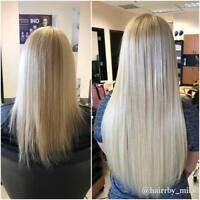 100% Remy Cuticle hair Damage Free, Full head $299 book now!
