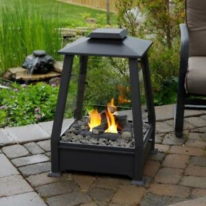 Outdoor fireplace - perfect for wood decks, balconies