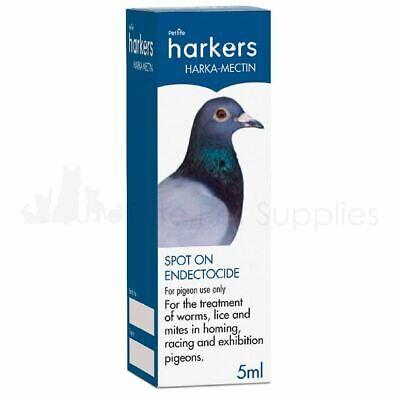 Harkers Harkamectin Spot on Parasite Worms Lice Mite Treatment Racing Pigeons