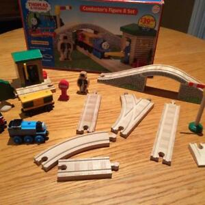 THOMAS WOODEN TRAINS, TRACKS AND ACCESSORIES