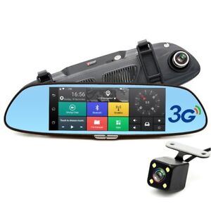 "7"" 3G 1080P GPS Car DVR + Dual Camera Rearview  3G Car DVR Mirro"