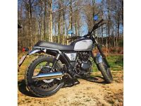 2017 krs brixton bx 125 motorbike