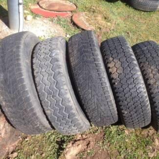"5 Sunraysia 6 stud Hilux rims with 16"" tyres Tangambalanga Indigo Area Preview"