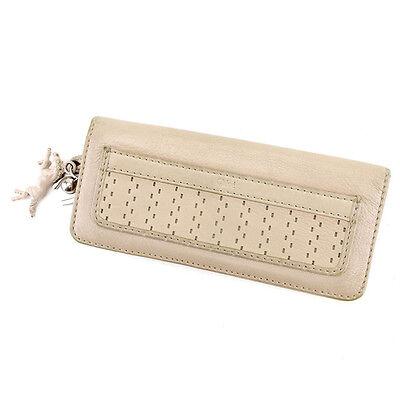 Auth Chloe Fastener Wallet Ladies used I435