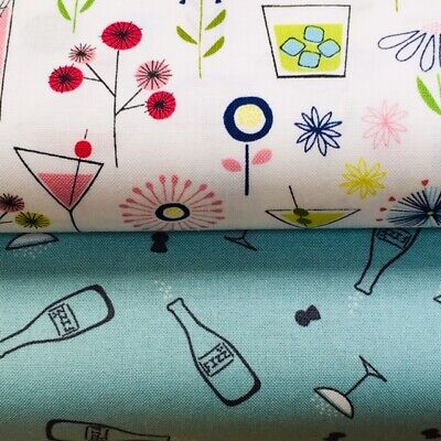 Lewis and Irene 'Cocktail Party' Collection 100% Cotton Fabric Fat Quarter, H...