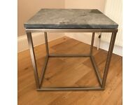 Dwell Marble Grey Square Side Table