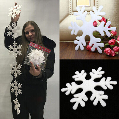 Big Snowflakes 3M Silver & Red Snowflake For Christmas Party New Year Xmas Tree  ()