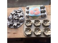 3 Nordic Ware Muffin Pans - heavy duty bakeware