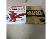 1 lego and 1 star wars book