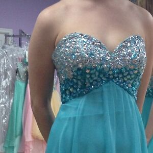 Beautiful size 2 light blue prom dress PRICE REDUCED
