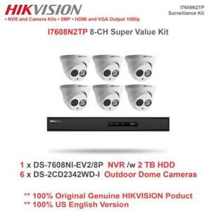 Weekly Promo! HIKVISION I7608N2TP 8CH IP SUPER VALUE KIT/6 X 4MP 1080P IP TURRET CAMERA/2TB HDD