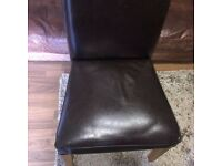 ON OFFER 2 For £20 Real Leather Dining Chairs