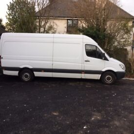 Mercedes Sprinter C311 LWB Wood paneled with side door and 6 seats. Low mileage