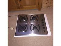 Whirlpool 4 ring stainless steel gas hob