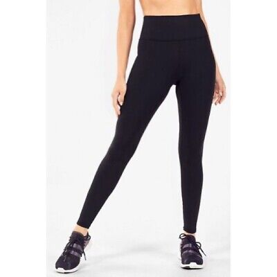 NEW Fabletics Womens XXS Black Cold Weather High Waisted Leggings Fleece Lined